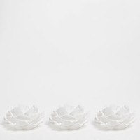 White Flower Candle (Pack of 3) - Candles - Decoration | Zara Home United Kingdom