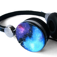 Space Galaxy Nebula Custom headphones earphones hand painted