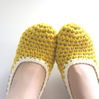 Crochet House Slippers With Felt Po.. on Luulla