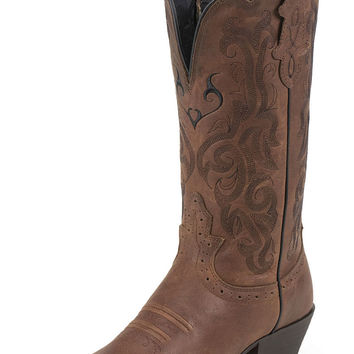 Justin Boots Women's Dark Brown Mustang Western Cowgirl Boots