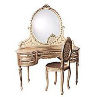 Vintage Style Ladies Vanity Dressing Table With Mirror | ThisNext