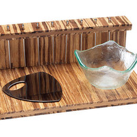 BE MERRY COCKTAIL SET | Cocktails, Party, Bar, Bamboo, Serving, Tray, Bottle, Opener, Bowl, Toothpicks | UncommonGoods
