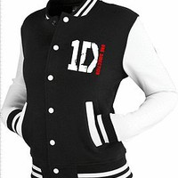 ONE DIRECTION inspired Varsity Jacket Top 1D tour black/white. S, M, L &amp; XL