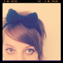 The Big Bow Headband in Midnight Black by chanelb1989 on Etsy