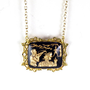 Gold and Black William Tell Necklace