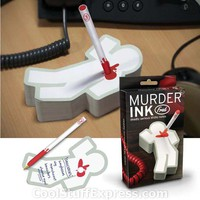 Murder Ink Pad & Pen Set