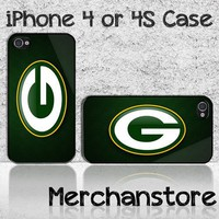 Green Bay Packers Aerian Football NFL Team Logo Custom iPhone 4 or 4S