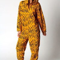 Jasmine Tiger Print Hooded Onesuit