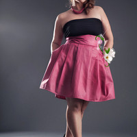 Jibri High Waisted Pleated Plus Size Skirt