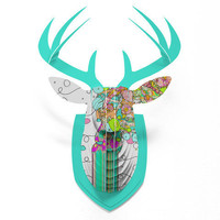 DENY Designs Home Accessories | Ingrid Padilla Bouquet 1 Faux Deer Mount