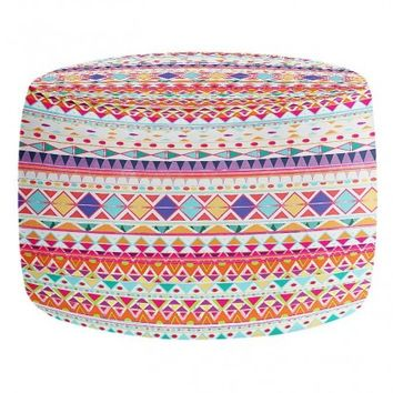 Round and Square Ottoman Foot Stool Artistic Decorative Designer Unique | Nika Martinez's Carnival