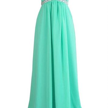 Kamilione Sweetheart - neckline Chiffon Long Bridesamdid Prom Dress