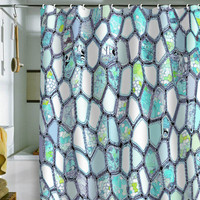 DENY Designs Home Accessories | Ingrid Padilla Blue Cells Shower Curtain