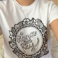 Lana Del Rey zentangle shirt