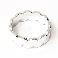 Metallic Silver Tone Bangle Arm Bracelet Vintage Fashion Jewelry: Jewelry: Amazon.com