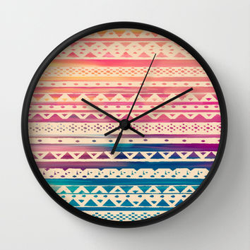 SURF TRIBAL II Wall Clock by Nika