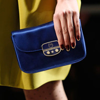 Jason Wu - Satin Miss Wu Clutch, Royal Blue - Bergdorf Goodman