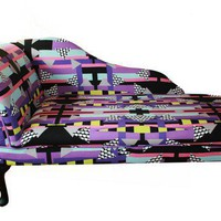 Chaise Longue Chair Funky Print