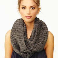 Metallic Infinity Scarf - Gray