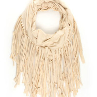 Boho Fringe Scarf - Beige Scarf - $29.00