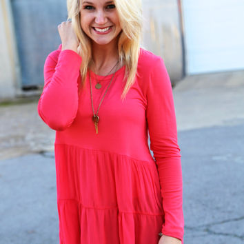 Double Dip Tunic {Coral}