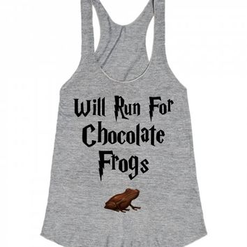 Will Run For Chocolate Frogs-Unisex Athletic Grey Tank