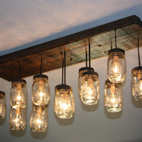 The &quot;Coming Home&quot; Custom Mason Jar Chandelier