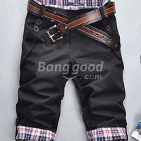 Men's Casual Straight Fashionable Cropped Trousers Free Shipping!  - US$15.42