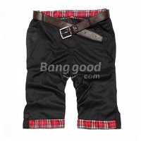 New Summer Casual Straight Men's Slim Fit Cropped Pants Free Shipping!  - US$10.75