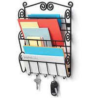 Walmart.com: Scroll Wall Mount Letter Holder Black: Kitchen & Dining