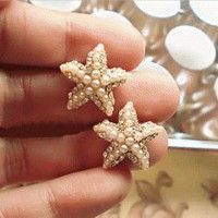 Star Fish Pearl Fashion Earrings | LilyFair Jewelry