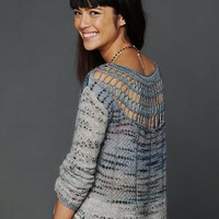 Free People Crochet Back Pattern Pullover