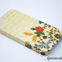 IPHONE 4 CASE - Vintage Flower Pattern Needle Embroidery iPhone 4s Case