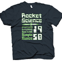 Rocket Science t shirt by Crazy Dog Tshirts