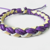 jewelry bangle leather bracelet women bracelet  girl bracelet made of leather and ropes woven wrist bracelet SH-0406