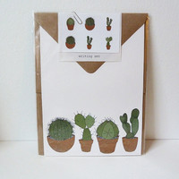 cacti writing set