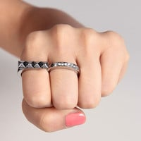 Studs to Diamonds Double Finger Ring - 2020AVE