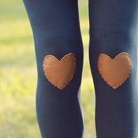 My Leather Heart Navy Leggings // size small