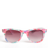 Fresh Floral Sunglasses by A.J. Morgan with Case - $15.00 : ThreadSence.com, Your Spot For Indie Clothing & Indie Urban Culture