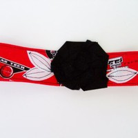Texas Tech headband, head wrap, collegiate | Our Place To Nest