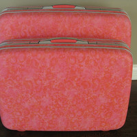 Static Pink Samsonite Vintage hard shell suitcase by flunsa