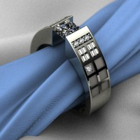 Awesome / Tardis Wedding Ring
