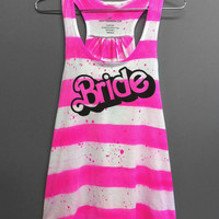 Bride Shirt- Barbie Bride Bachelorette Flowey Tank