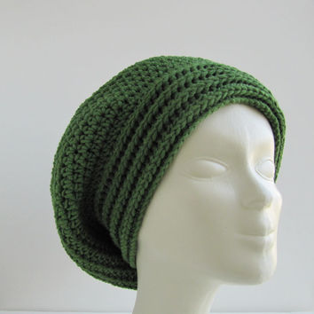 Green slouchy hat,textured winter hat,beanie. /JUMBO SLOUCHY Beanie hat / Fashion Trends 2014-15 /Cristmas gift