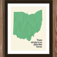 Ohio state poster print: There simply is no place like home.