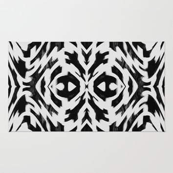 Arrow Tribe Black & White Rug by Nina May Designs