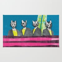 lupi (they are looking at you) Rug by Juni
