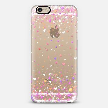 Valentine Hearts Rain Transparent iPhone 6 case by Organic Saturation | Casetify