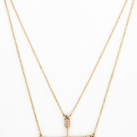 ModCloth Boho Signed, Sealed, and Quivered Necklace in Gold
