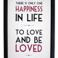 Medium Word Pic There Is Only One Happiness | Wall Art &amp; Signs | Home Accessories | 21.99 - The Contemporary Home Online Shop